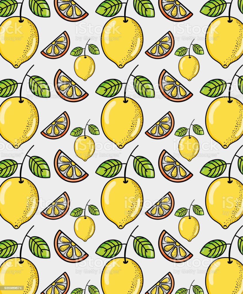 Cute Lemons Background Stock Vector Art More Images Of