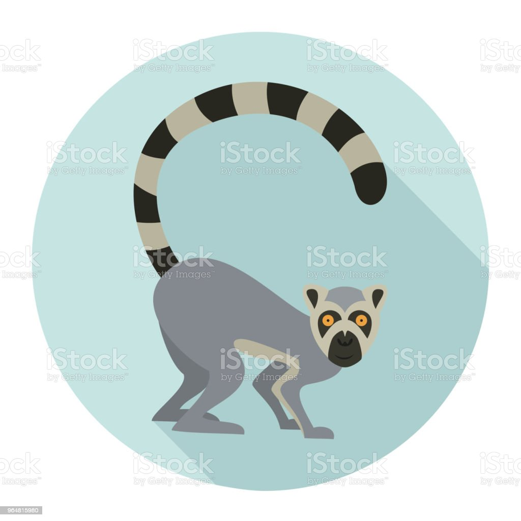 Cute lemur on blue background. royalty-free cute lemur on blue background stock vector art & more images of africa