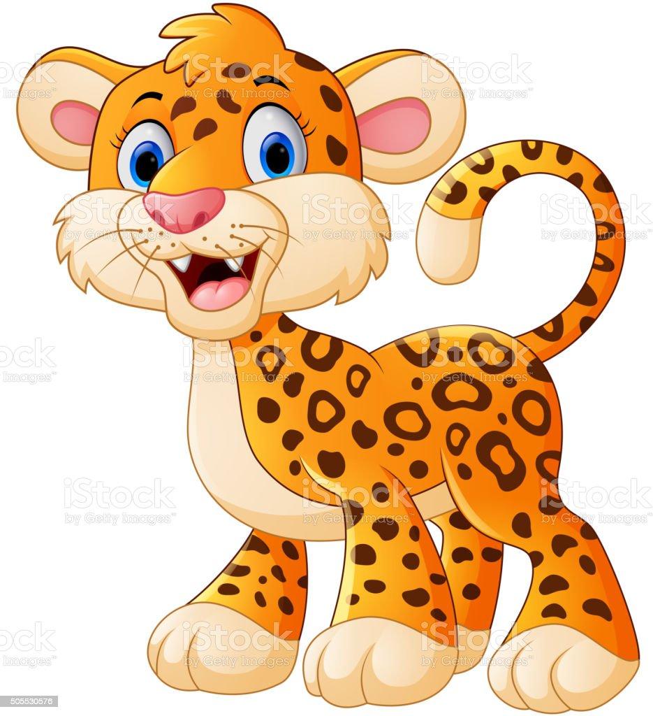 Cute Leopard Cartoon Stock Vector Art & More Images Of ...