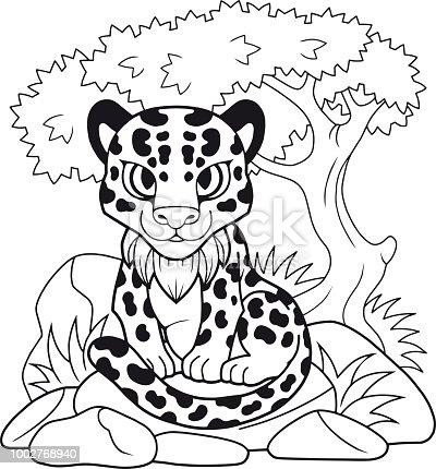 Ilustración de Leopardo Lindo Ilustración Divertida Libro Para ...
