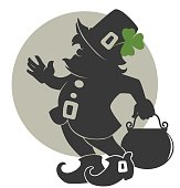 cute leprechaun silhouette for your St. Patrick's day