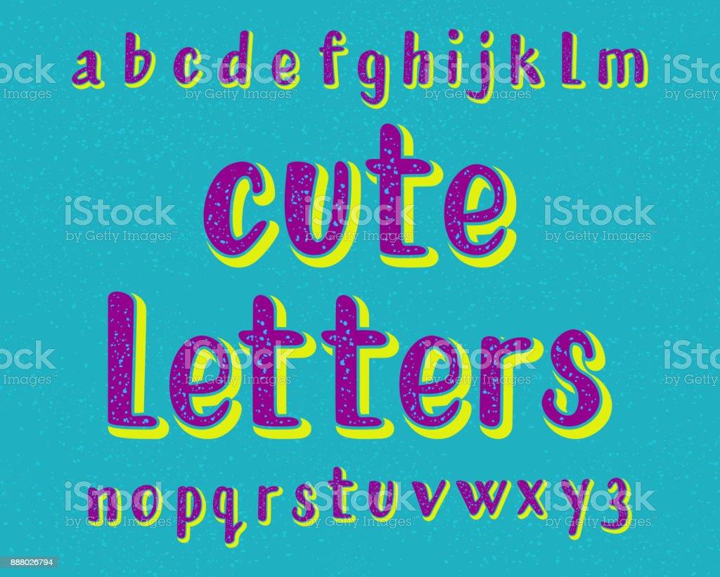 かわいい文字書体漫画のフォントです分離の英語のアルファベット