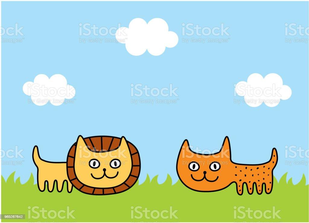 cute lion and leopard spring picture vector cute lion and leopard spring picture vector - stockowe grafiki wektorowe i więcej obrazów baby shower royalty-free
