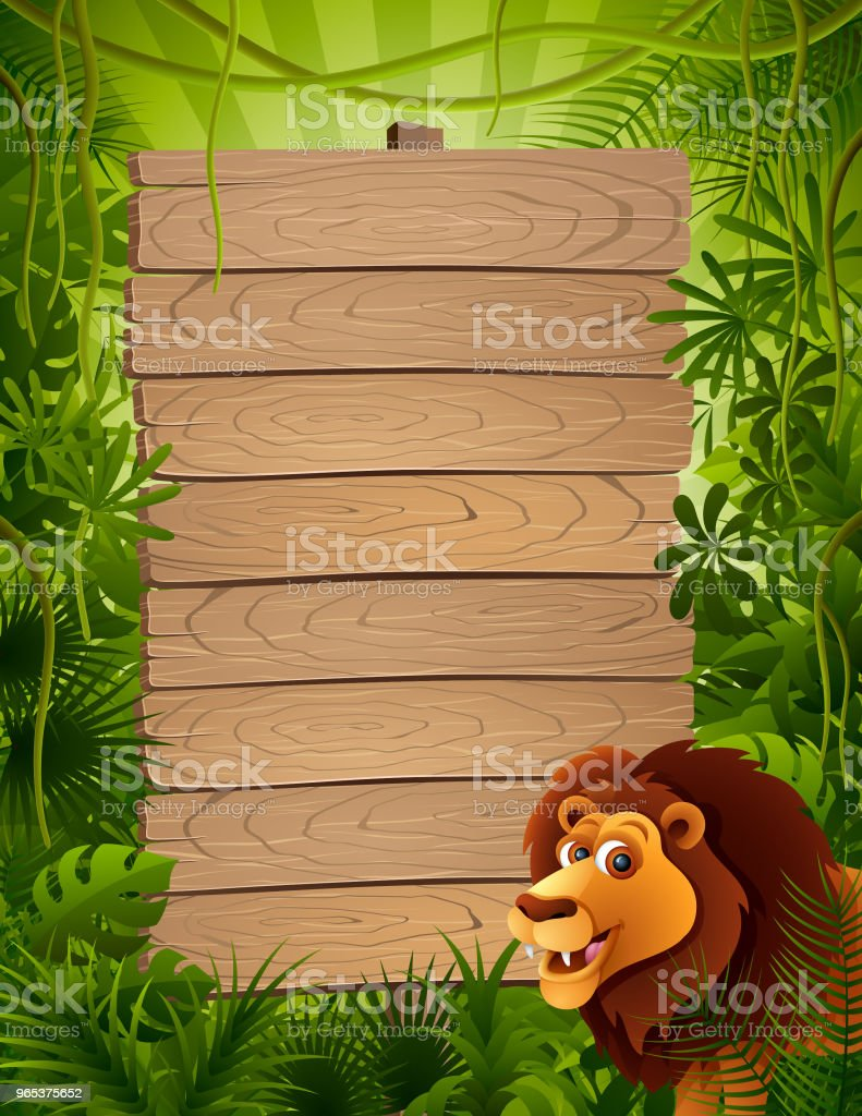 Cute Lion and Wooden Sign royalty-free cute lion and wooden sign stock vector art & more images of africa