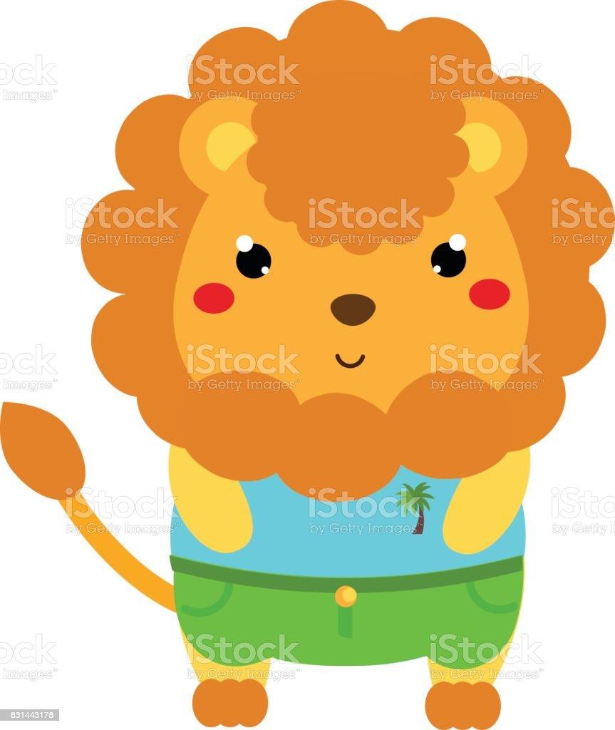 かわいいライオン漫画の服かわいい動物のキャラクター子供や赤ちゃんの