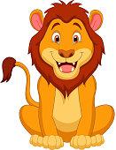 istock Cute lion cartoon 455614957