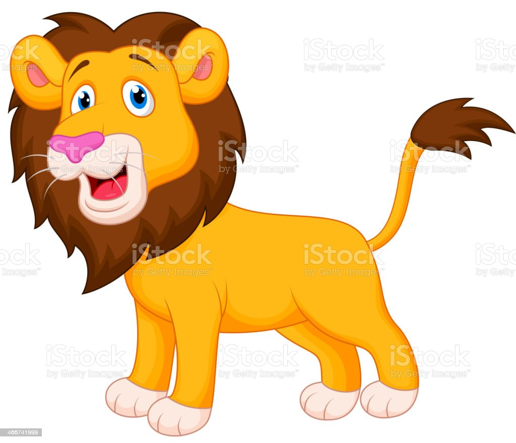 royalty free lion mascot jumping vector clip art vector images rh istockphoto com cute lion face clipart cute baby lion clipart