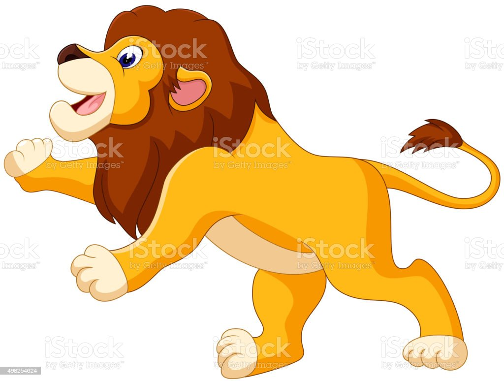 cute lion cartoon stock vector art 498254624 istock