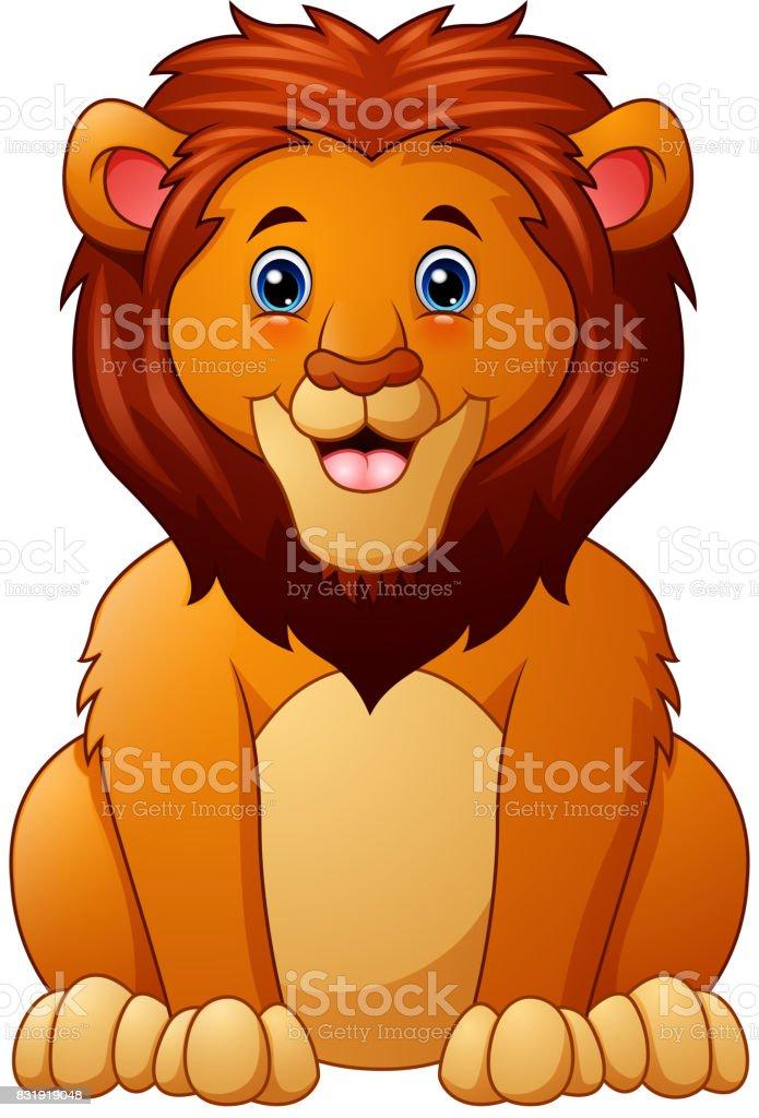 ライオン漫画かわいい たてがみのベクターアート素材や画像を多数ご