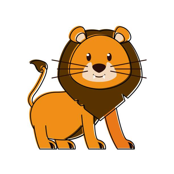말풍선이 있는 귀여운 lion - 강아지 실루엣 stock illustrations
