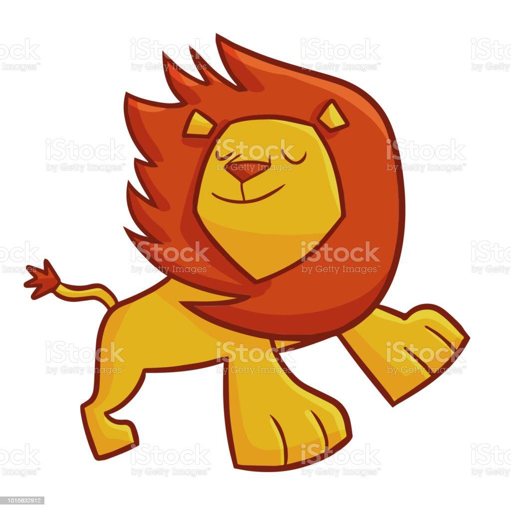 Süße Löwen Tun Eine Coole Pose Stock Vektor Art Und Mehr Bilder Von