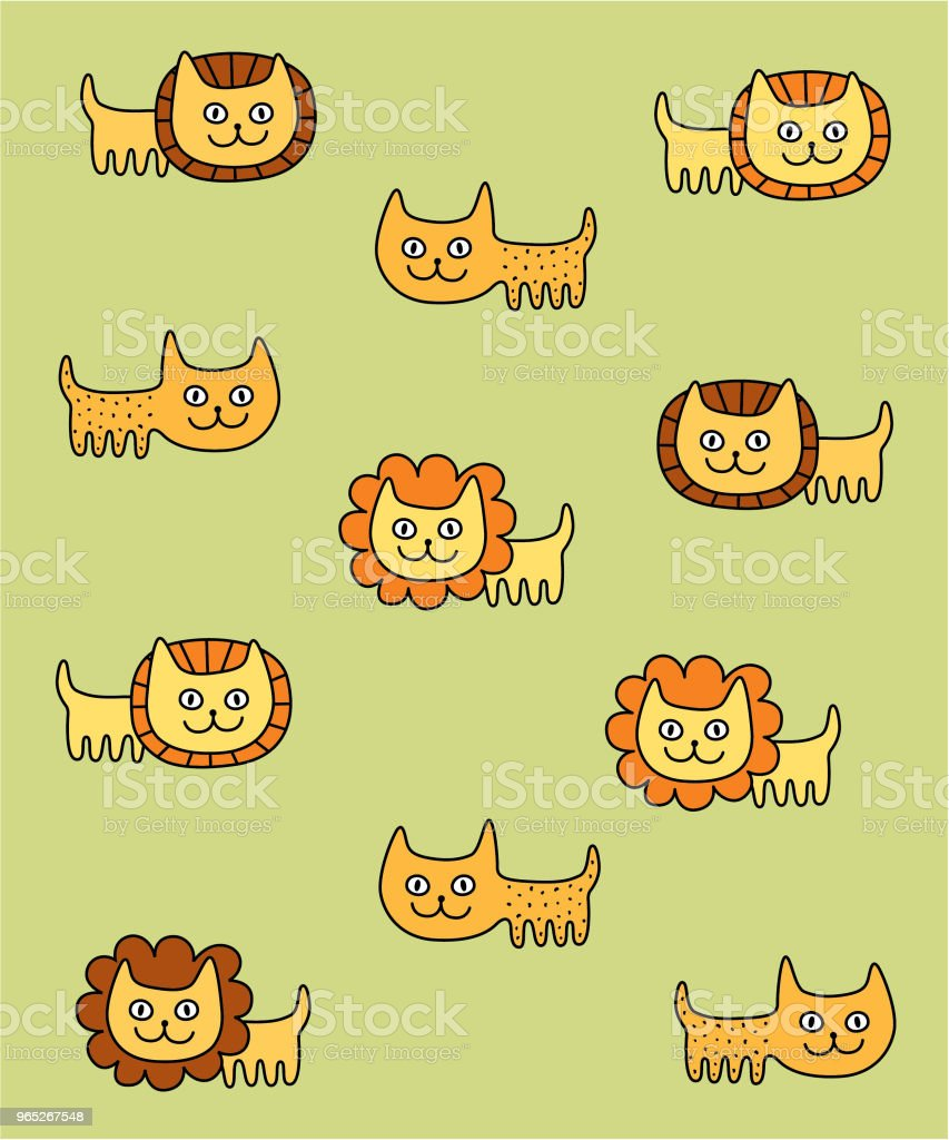 cute lion leopard nursery wallpaper vector cute lion leopard nursery wallpaper vector - stockowe grafiki wektorowe i więcej obrazów baby shower royalty-free