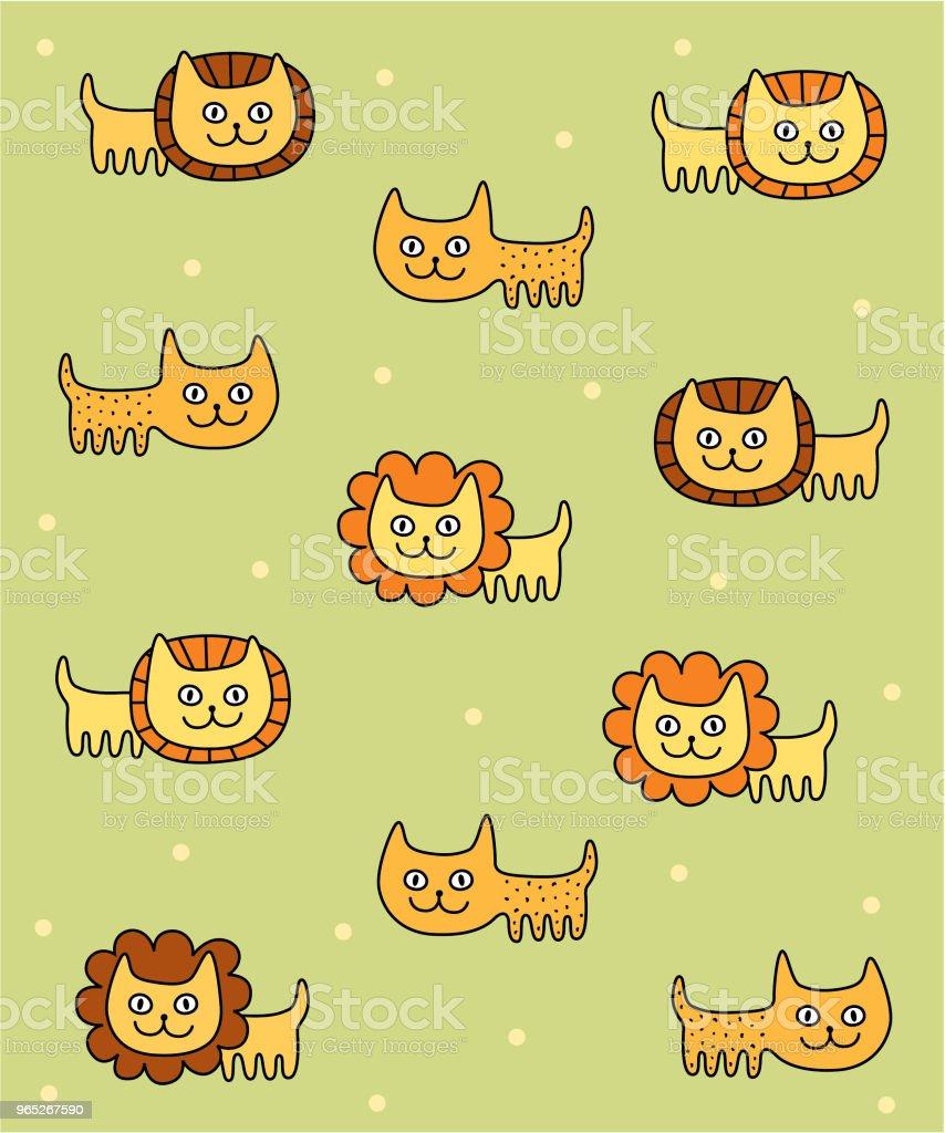 cute lion leopard nursery wallpaper vector cute lion leopard nursery wallpaper vector - stockowe grafiki wektorowe i więcej obrazów baby shower royalty-free