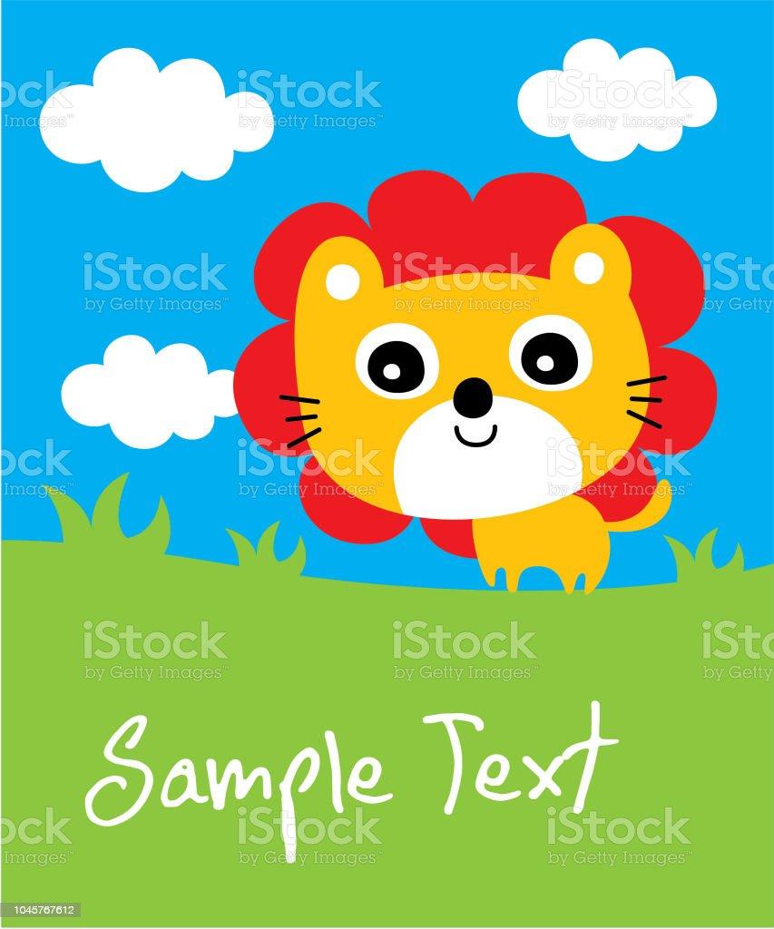 かわいいライオン保育園壁紙かわいい赤ちゃんライオン到着カード