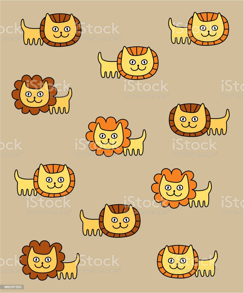 cute lion nursery wallpaper vector royalty-free cute lion nursery wallpaper vector stock vector art & more images of animal