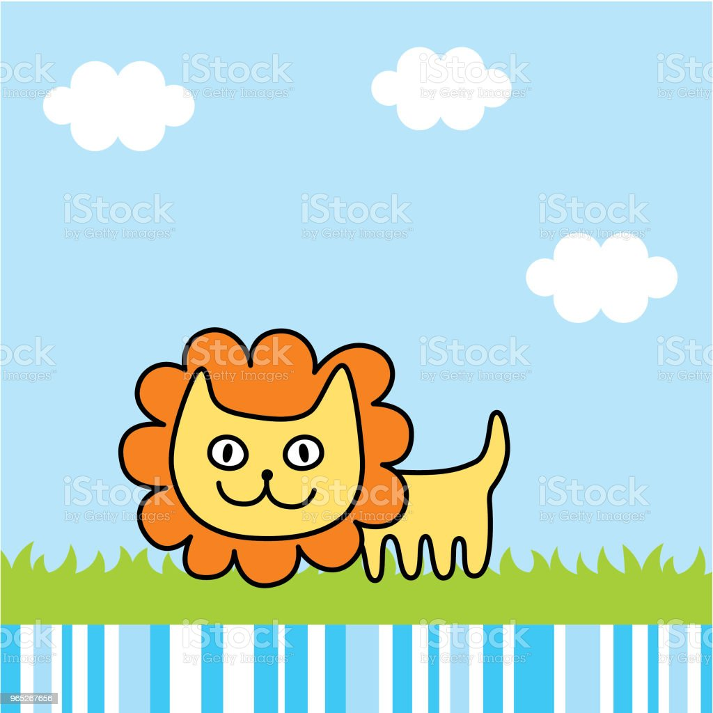 cute lion spring picture vector cute lion spring picture vector - stockowe grafiki wektorowe i więcej obrazów baby shower royalty-free