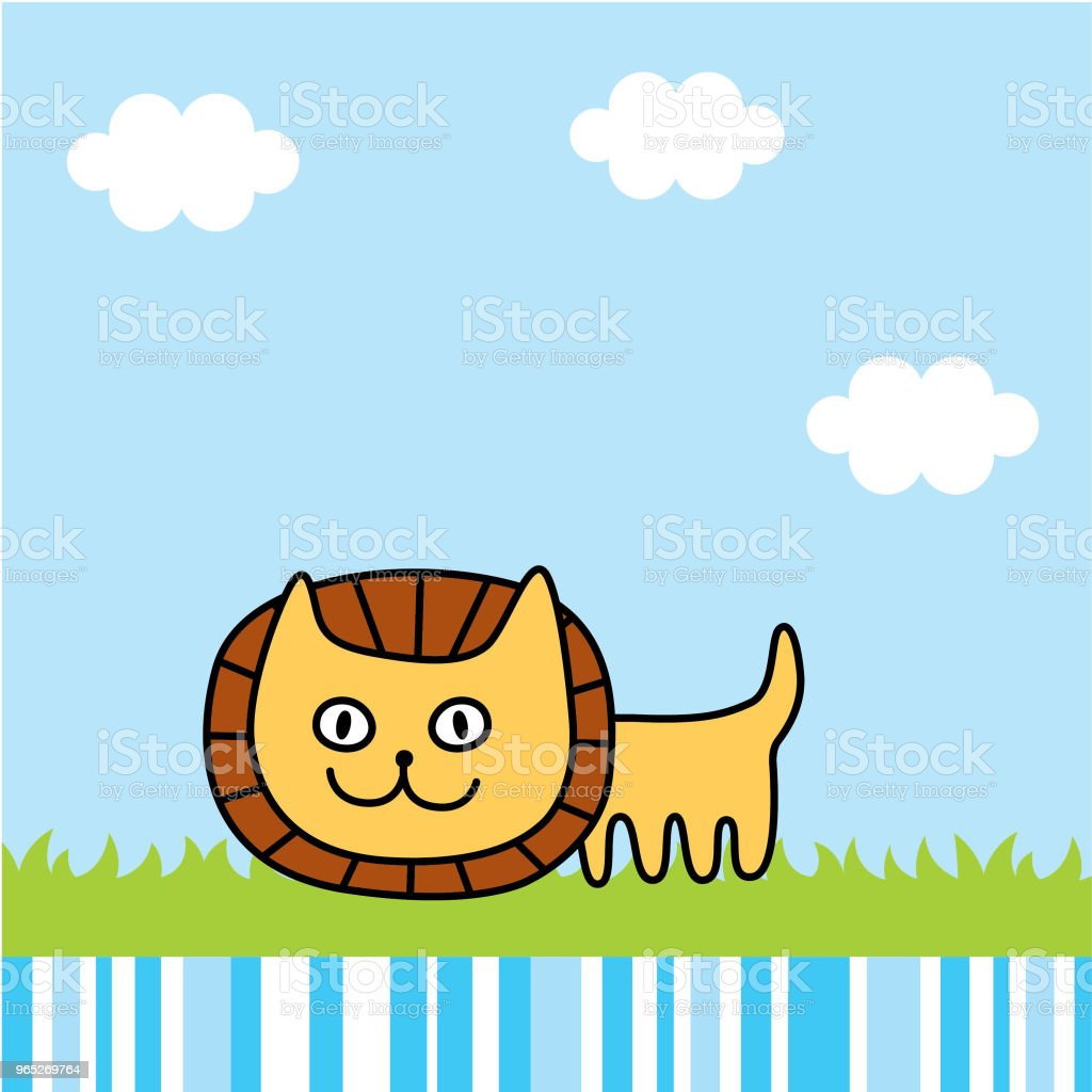 cute lion spring picture vector royalty-free cute lion spring picture vector stock vector art & more images of animal