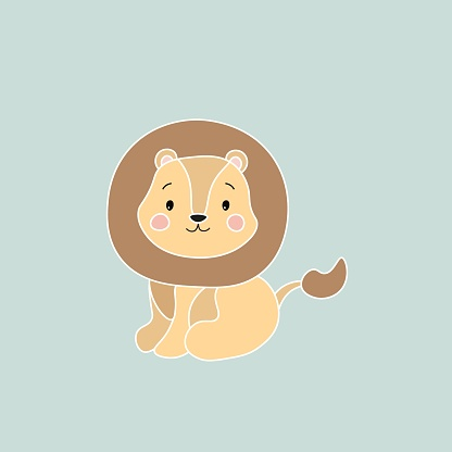 Cute lion vector illustration eps10