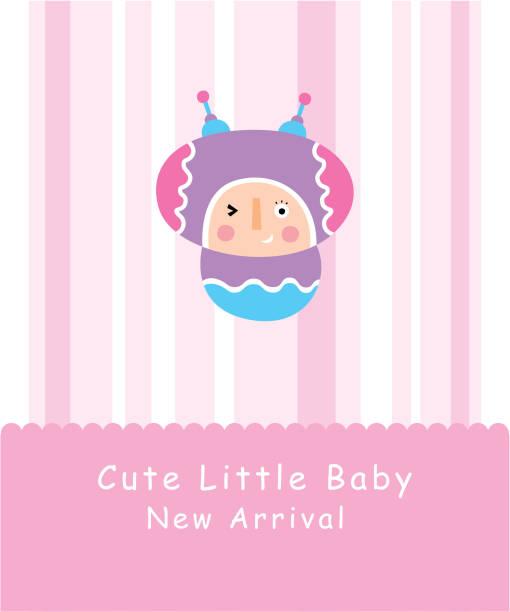 süße kleine Baby Doodle-Grußkarte – Vektorgrafik