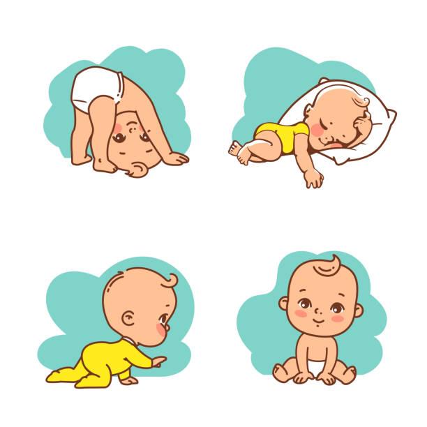 かわいい赤ちゃんのアイコンセット。 - 赤ちゃん点のイラスト素材/クリップアート素材/マンガ素材/アイコン素材