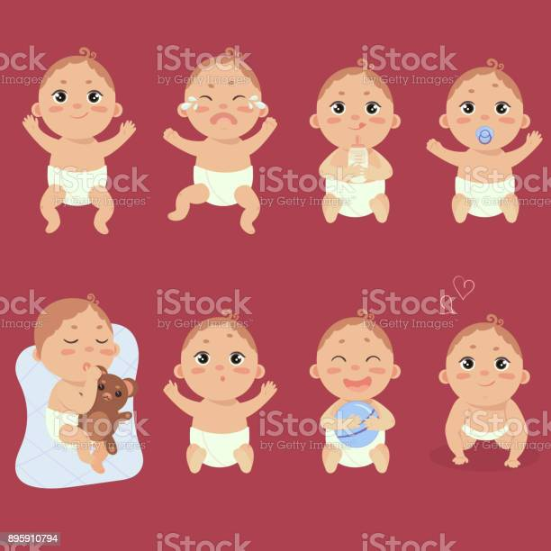 Cute little baby in diaper with different emotions vector id895910794?b=1&k=6&m=895910794&s=612x612&h=zzxtdxy1xlsacuiblmlccopx6y3lcz7qjkmimqazq0u=