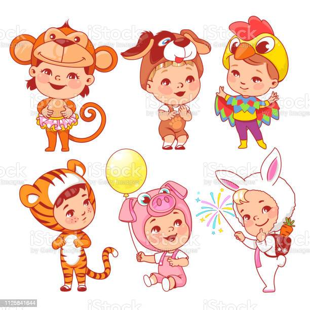 Cute little baby wear carnival costumes vector id1125841644?b=1&k=6&m=1125841644&s=612x612&h=knaxqt681leq rjmk8zncrhuhret 9umlu9m xiifr8=