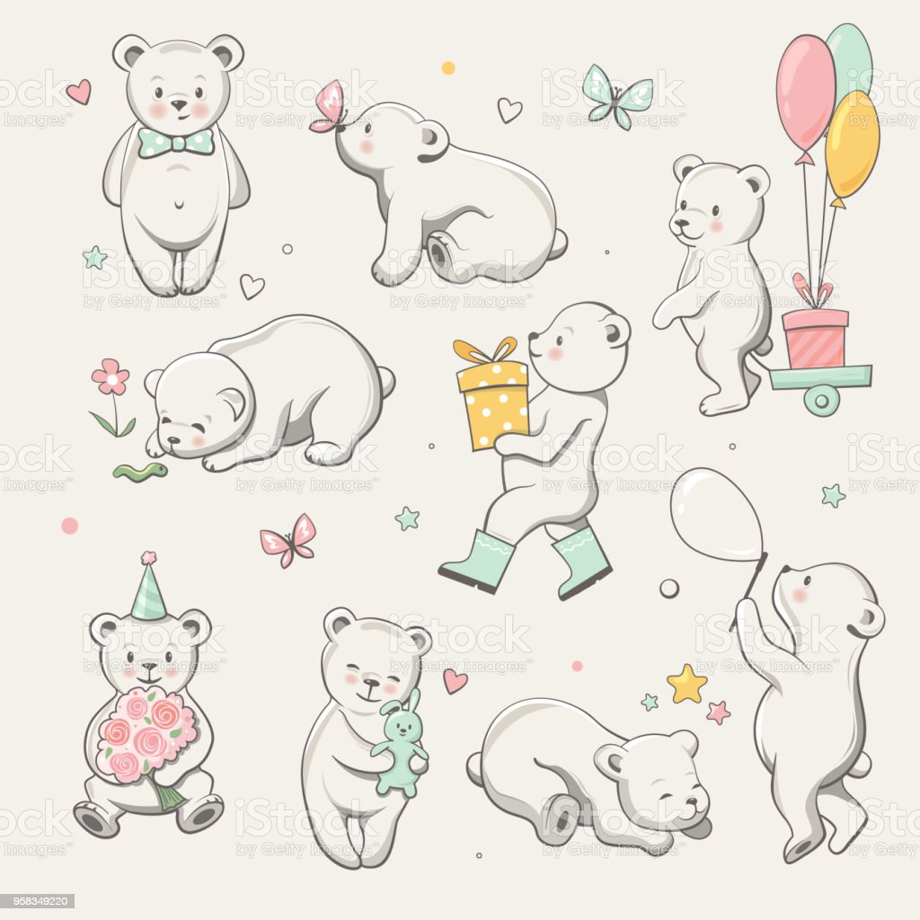 Cute Little Bear Collection Perfect For Baby Shower Celebration