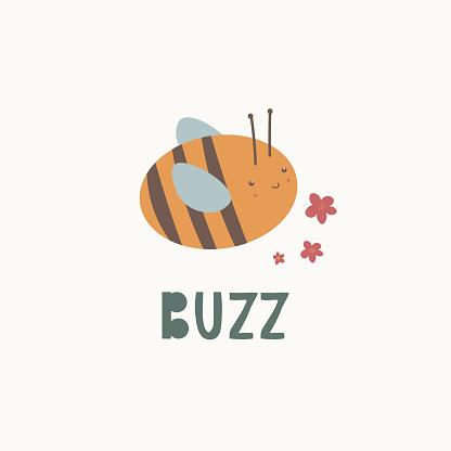 Cute little bee vector illustration