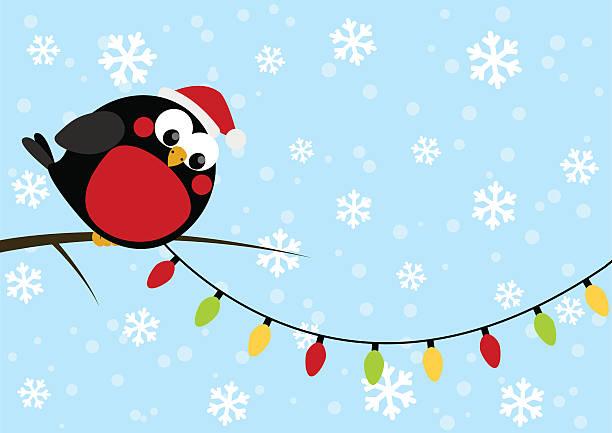 süße kleine vogel mit lampen - dompfaff stock-grafiken, -clipart, -cartoons und -symbole