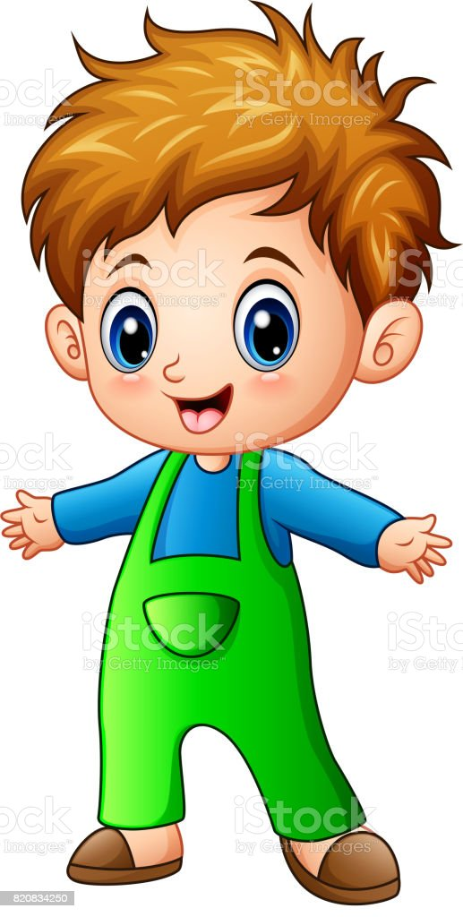 Cute Little Boy Cartoon Stock Illustration Download Image Now