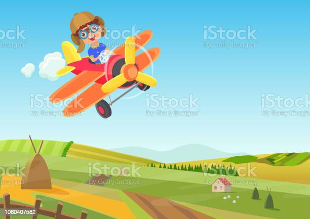 Cute little boy flying in airplane above the fields funny flying vector id1060407582?b=1&k=6&m=1060407582&s=612x612&h=ml0 wrdaf bep2ls3d9varknj6fdn12mnzbqfkj jpm=
