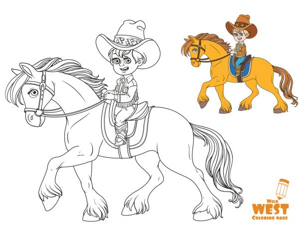 Best Blue Jeans Horse Illustrations Royalty Free Vector