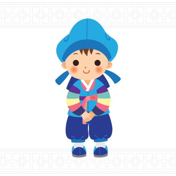 Best Hanbok Illustrations Royalty Free Vector Graphics Clip Art