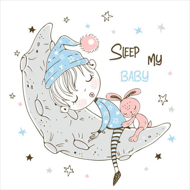 Best Baby Boy Sleeping On The Moon Among The Stars