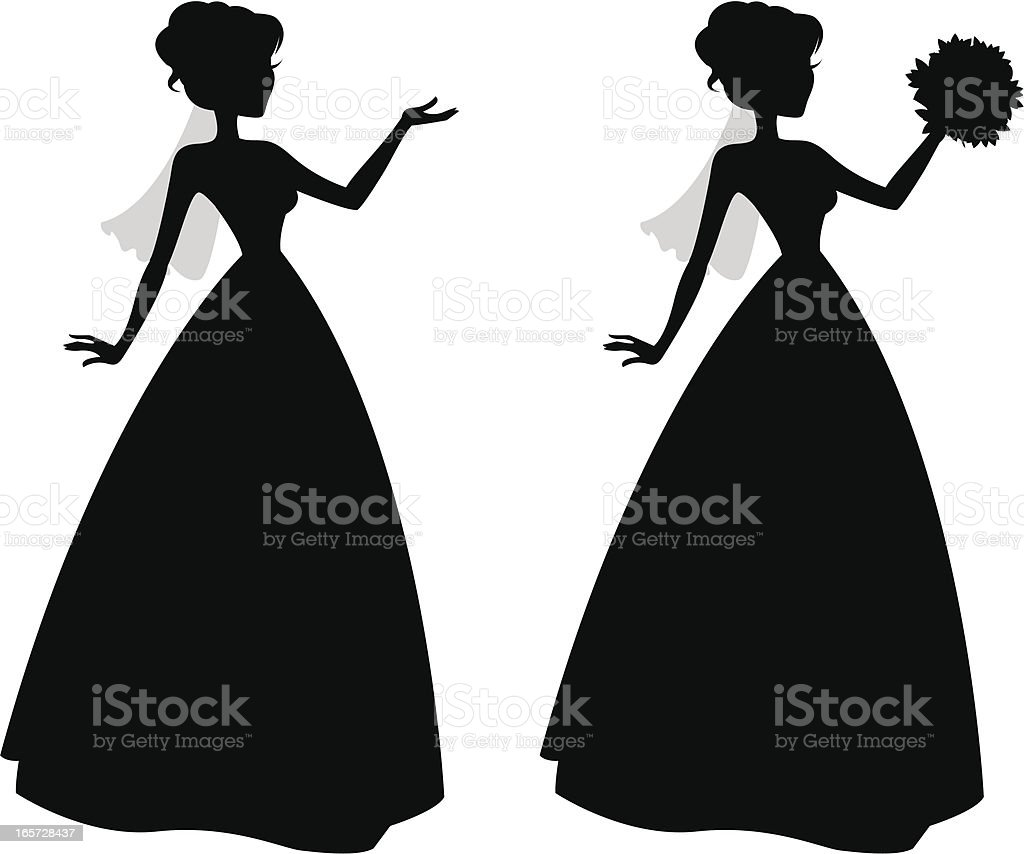 Cute Little Bride Silhouettes royalty-free cute little bride silhouettes stock vector art & more images of adult