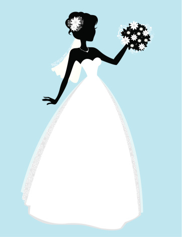 Cute Little Bride Stock Illustration - Download Image Now