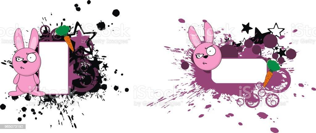 cute little bunny cartoon copy space set cute little bunny cartoon copy space set - stockowe grafiki wektorowe i więcej obrazów ameryka Łacińska royalty-free