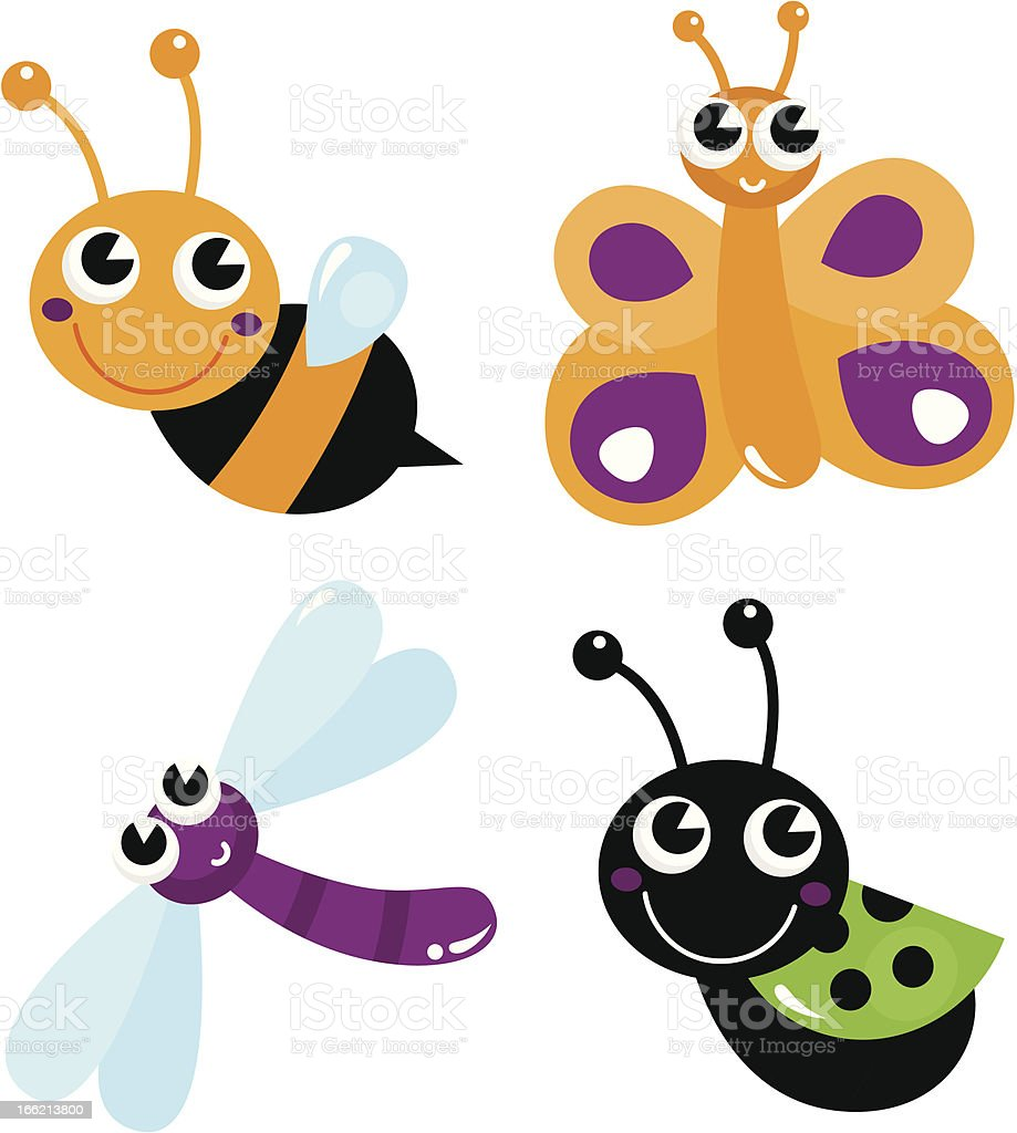 Cute little cartoon bugs isolated on white royalty-free cute little cartoon bugs isolated on white stock vector art & more images of animal