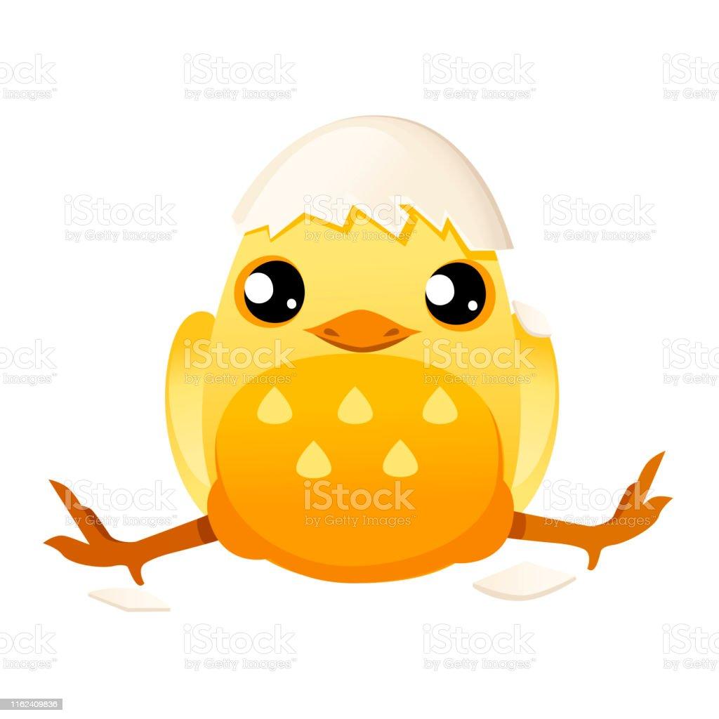 卵殻漫画キャラクターデザインフラットベクトルイラストから帽子