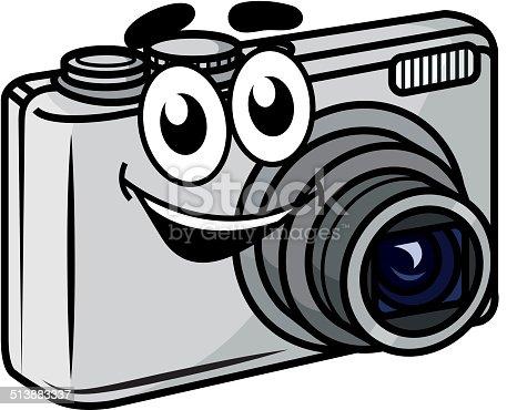 istock Cute little cartoon compact camera 513883337
