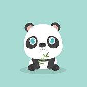 Cute little cartoon panda.