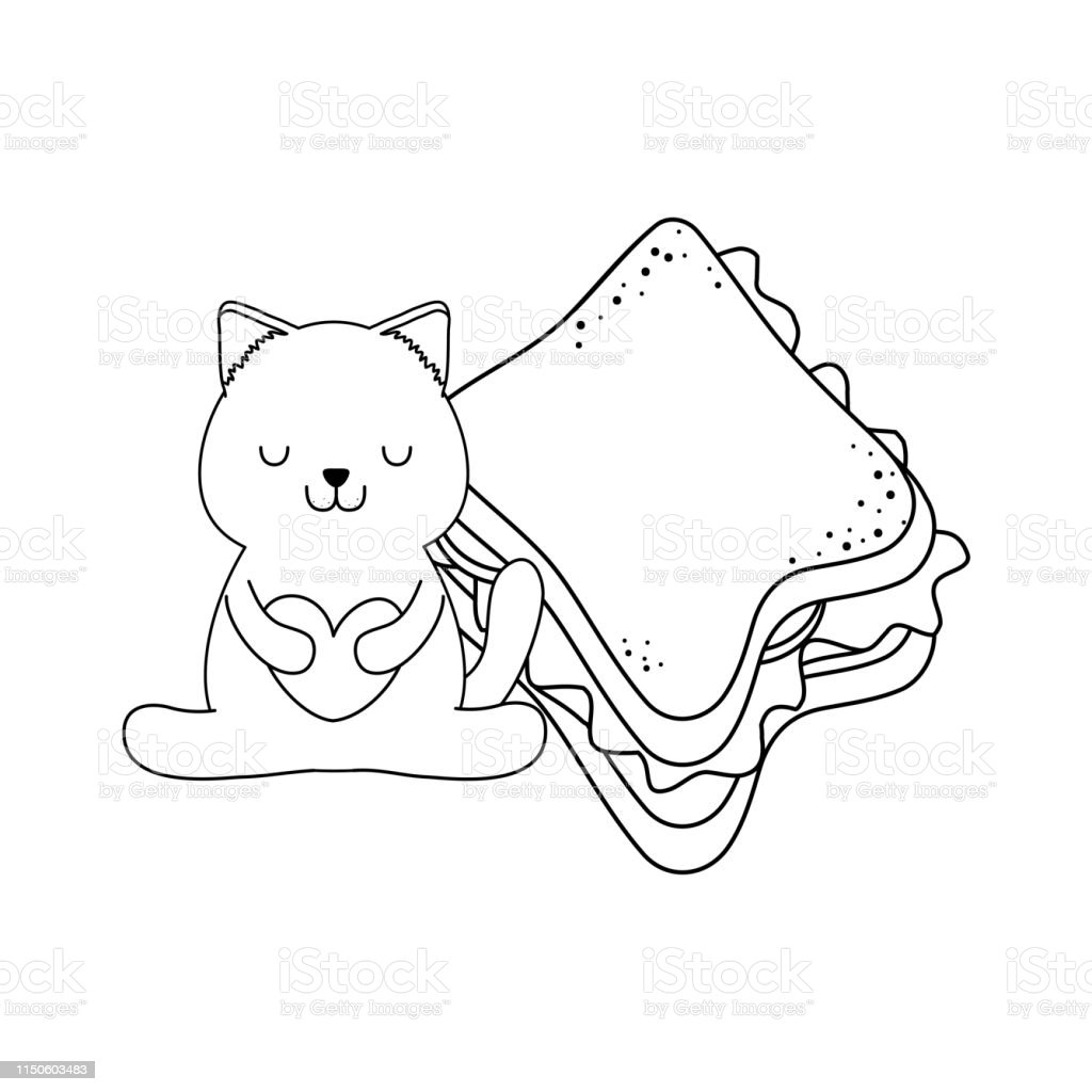 cute-little-cat-with-sandwich-kawaii-character-vector-id1150603483