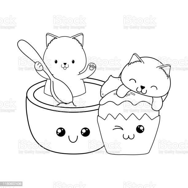 Cute little cats with cupcake kawaii characters vector id1150602436?b=1&k=6&m=1150602436&s=612x612&h=0ycgwrec8gc1d6dfylxslozgmnvahyki8 skadgswlo=