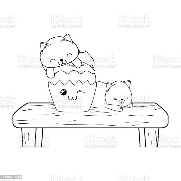 Cute little cats with cupcake kawaii characters vector id1150602639?b=1&k=6&m=1150602639&s=612x612&h=cif88eyjai53duupuvwpyrww7 gqo4dcidbwficmly4=