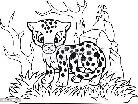 Ilustración de Guepardo Poco Lindo Ilustración Divertida Libro Para ...
