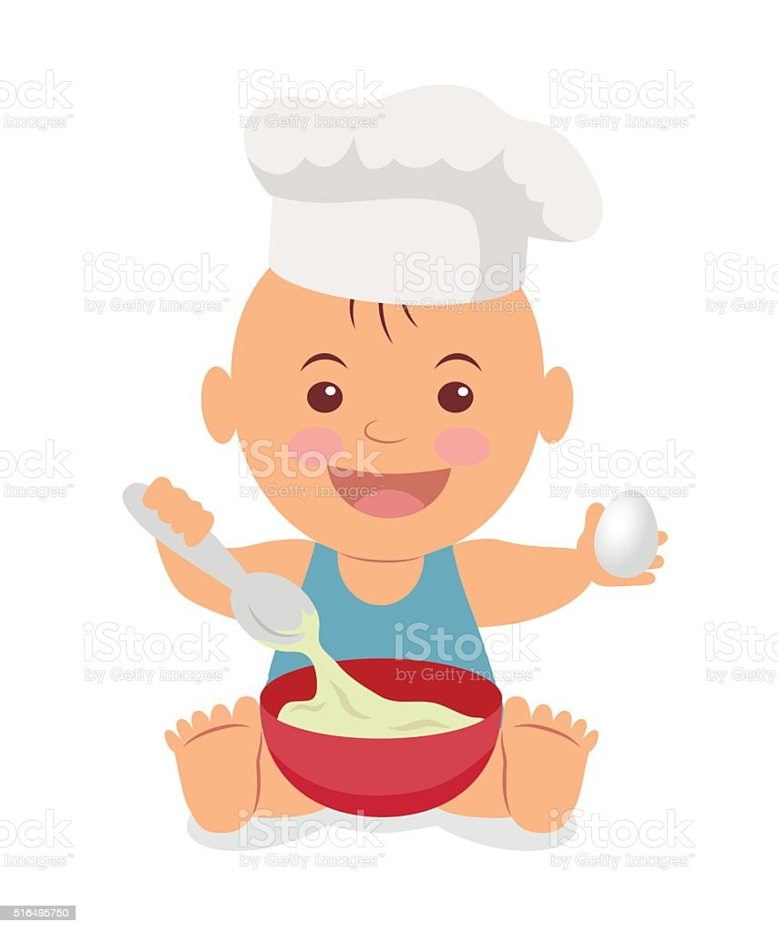 royalty free baby holding spoon clip art vector images