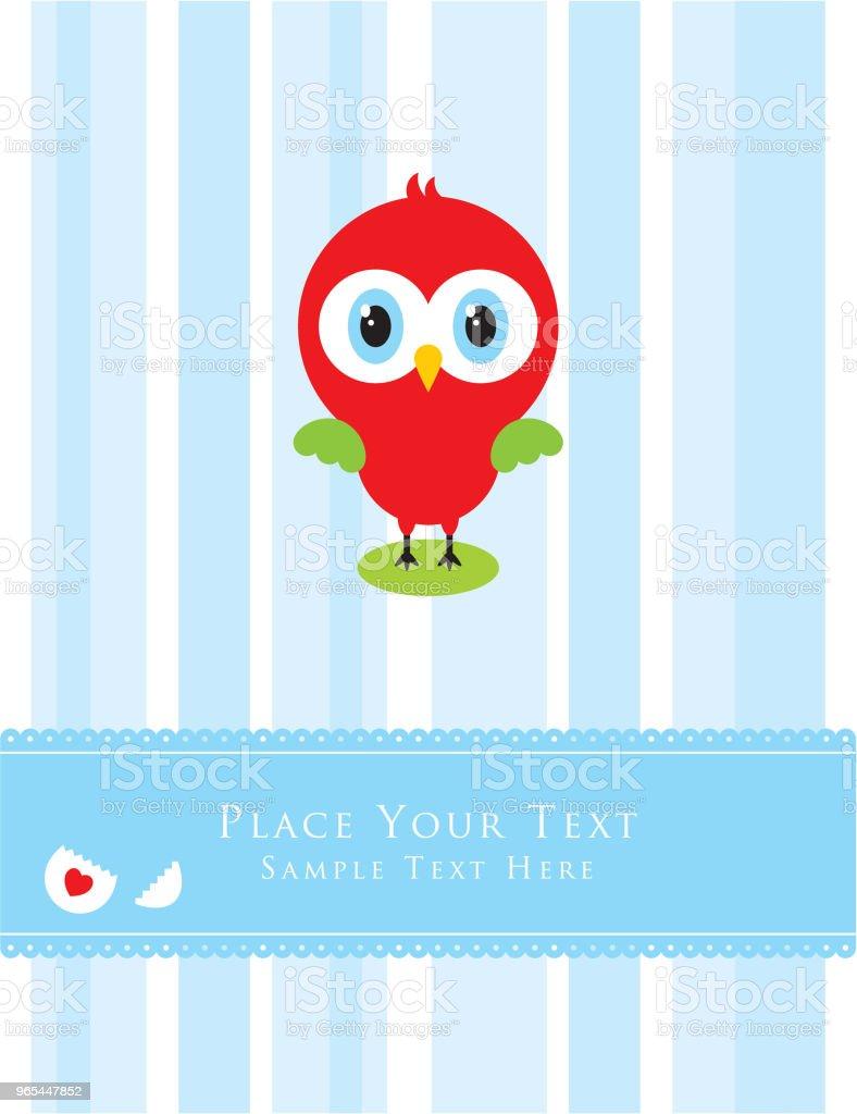 mignonne petite carte de voeux de poulet - clipart vectoriel de Acclamation de joie libre de droits