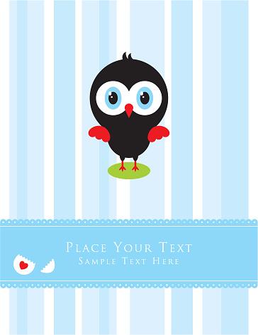 귀여운 작은 닭 인사말 카드 귀여운에 대한 스톡 벡터 아트 및 기타 이미지