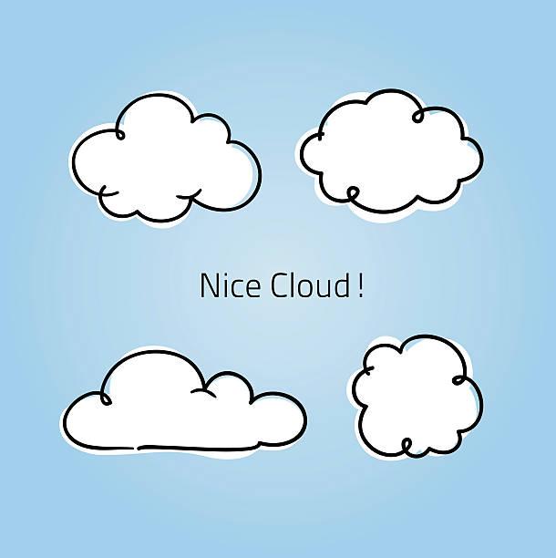 cute little clouds - clouds 幅插畫檔、美工圖案、卡通及圖標