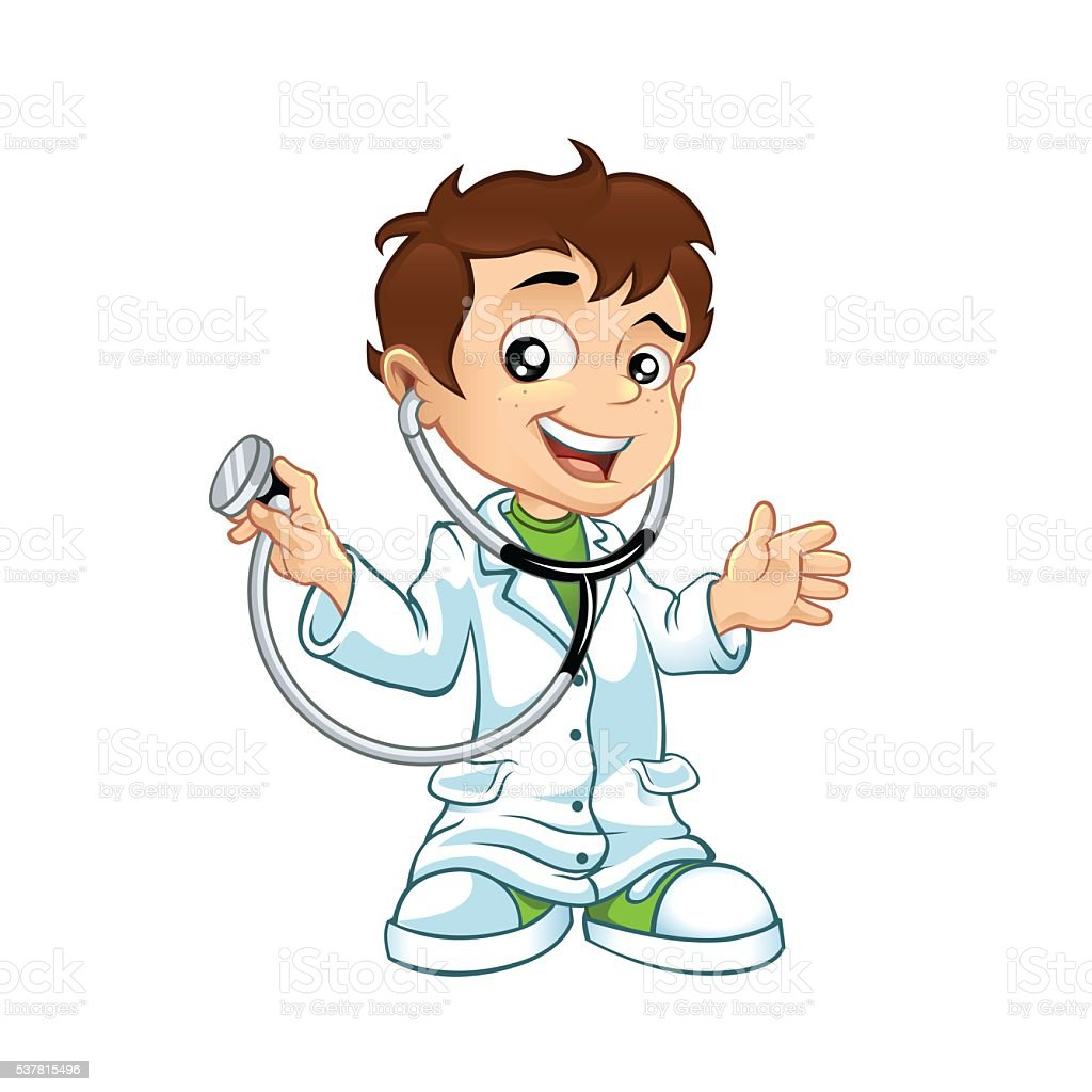 Cute Little Doctor Stock Vector Art & More Images of ...